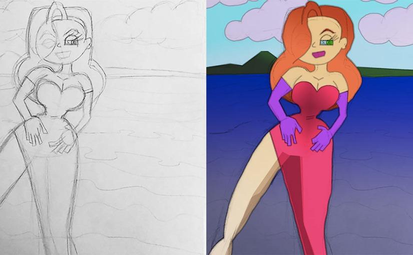 October Sketch 3/31: JessicaRabbit