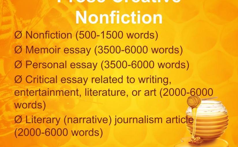 Prose Creative Nonfiction